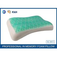 Wave Contour Shape Cooling Gel Memory Foam Pillow For Adults Good Sleep Manufactures