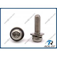 China 304/316/A2/A4 Stainless Torx Pan Head SEMS Screw with Spring & Flat Lock Washer on sale