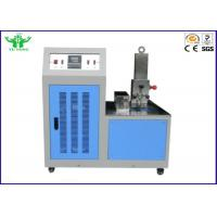 Blue Environmental Test Chamber , Rubber Plastic Low Temperature Brittleness Test Instrument -80℃~0℃ Manufactures