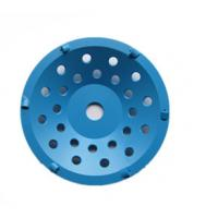 China Blue PCD Diamond Cup Wheel Grinding Disc on sale