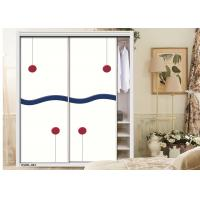 Textured Carving Painted Internal Sliding Doors , Wooden Wardrobe High Gloss UV MDF Board Manufactures