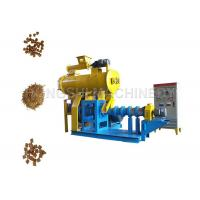 China Soybean Raw Materials Dog food feed pellet machine 5.5KW Main Power And 0.4KW Feeder Power on sale