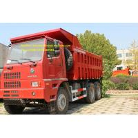 SInotruk 6x4  70T Mining Tipper Truck , Dump Truck Bottom Thickness 12mm And HYVA Hydraulic Lifting System Manufactures