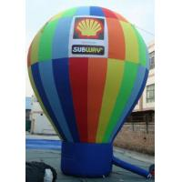 China Huge Waterproof Rainbow Earth Inflatable Balloons For Advertising on sale
