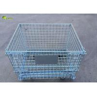 China Galvanized Steel Transport Collapsible Cage Storage Shelves Wire Mesh Crate on sale