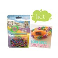 Non-Toxic Rainbow Silicone Wristband Bracelet , DIY Loom Band Ion Watch Manufactures