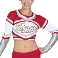 Customized Sexy Cheerleading Wear Tops with Medalist Metallic Crop Manufactures