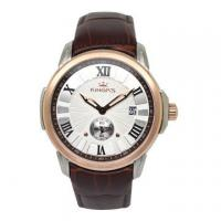 China Custom logo luxury wrist watches with leather strap watches rose gold bezel on sale