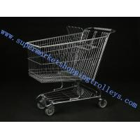 Retail Shopping Cart 180L Steel wire For Baby Seat ,  Wheels Manufactures