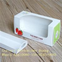 China Gift 350g White Display Paper Box For Chocolate Packaging With Window on sale