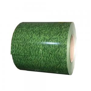 Grass Printing Pre Painted Galvanized Coils DX51D / SGCC Material Long Lifetime Manufactures