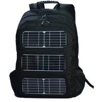 Black Shoulder Strap Solar Charging Backpack For Outdoor Travel Manufactures