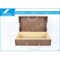 China Garment Packaging Large Cardboard Gift Boxes With Handles Classical Design on sale