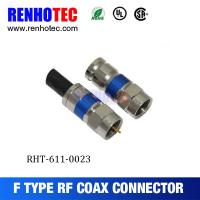 RG6 Coaxial Cable Crimp Type F Male Connector Manufactures