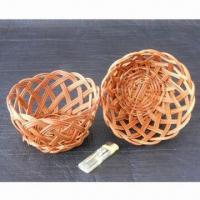 Candy/Fruit Basket, Made of Rattan Manufactures