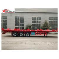 24/32/48/53/50 Foot Semi Truck Flatbed Trailer With Leaf Spring Suspension Manufactures