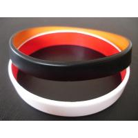 2 layers silicone bracelet, Top quality two layers silicone bracelet,wristbands, Custom made colors Manufactures