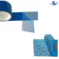 China High Adhesive Tamper Proof Security Tape , Tamper Evident Seal Tape Polyester on sale