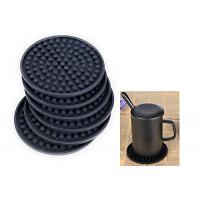 Quality Round Shaped Promotional Gift Giveaways Rubber Coaster Unbreakable Featuring for sale