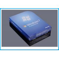 32 Bit Full Version Windows 7 Professional Retail Box DVD With 1 SATA Cable Manufactures