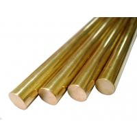 Round Pure Brass Copper Alloy Bar Diameter 5 - 100mm For Glasses Frames Manufactures