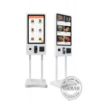 China 32 43 Self Ordering Interactive Touch Screen Payment Kiosk Floor Standing With Printer on sale