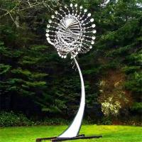 Quality Metal Art Famous Modern Outdoor Garden Stainless Steel 2 M Diameter Wind for sale