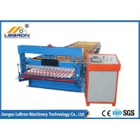 GI GP Material Corrugated Sheet Roll Forming Machine , Corrugated Sheet Metal Machine Manufactures