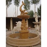 China Brown Mermaid Grarden Fountains, Brown Girls Delicate Carved Fountains on sale