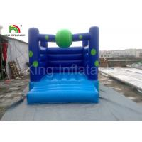 Home / Commercial Blue PVC Bouncy Castles Inflatable , Blow up Jumping Castles for Kids Manufactures