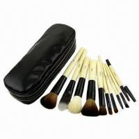 10-piece Makeup Brush Set, Traveling Size, Made of Pure Animal Hair Manufactures