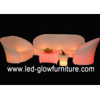 Modern L shaped LED Bar Chair color changing , Comfortable sectional night club sofa Manufactures
