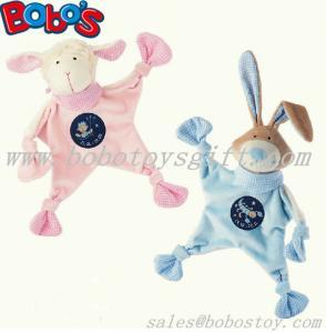 23cm Pink Lamb Plush Baby Comforter Toy Stuffed Blue Rabbit Bunny Baby Doudou Manufactures