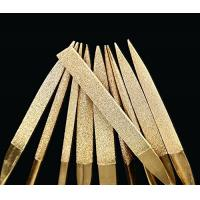 3 * 140 mm Titanium Coated Diamond Micro Files Excellent Surface Finish For Soft Metal Wood Manufactures