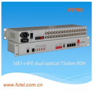 19 inch rack cabinet 16E1 Fiber Optical Modem PDH Multiplexer Manufactures