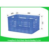 China Mesh Vegetablestacking Storage Boxes , Large Big Plastic Packing Crates Collapsible on sale