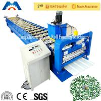 China Automatical Steel Roof Panel Roll Forming Machine Cr 12 Cutting Blade on sale