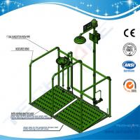 China SHD100Y-safety Pedaled shower & eyewash station with railing,SS304/G.I. for sale