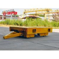 Workshop Material Transfer Carts Winch Towing On Rails Yellow / Gray Color Manufactures