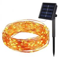 solar led copper light 10 meters 100 led lamps solar led copper wire string light/invisible led string lights Manufactures