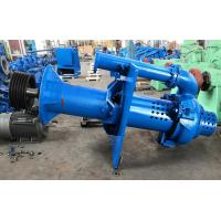 Open Pit Vertical Submersible Slurry Pump High Chrome A49 Blue Color RAL5015 Manufactures