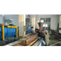 Automatic Plastic Profile Production Line With Double Screw Extruder Manufactures