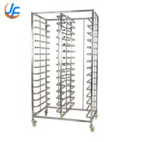 Stainless Steel Bread Baking Rack , Baking Oven Trolley Square Tube Manufactures