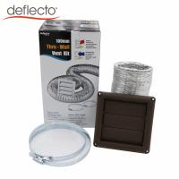 Kitchen Air Vent Kit 4 Inch Brown Vent Hood Aluminum Flexible Air Duct Set Manufactures