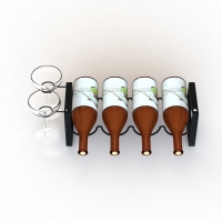 Metal Wire Stacking Wine Bottle Glass Holder For Home Display Manufactures