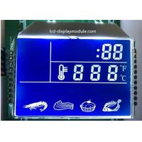 China Blue Background HTN LCD Display , 7 Segment Kitchen LCD Segment Display on sale