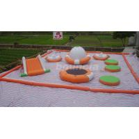 0.9mm PVC Tarpaulin Inflatable Water Park For Kids / Water Inflatable Park With Slide Manufactures