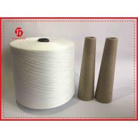 China Natural White Paper Cone Spun Polyester Yarn Z / S Twist Semi Virgin High Strength wholesale