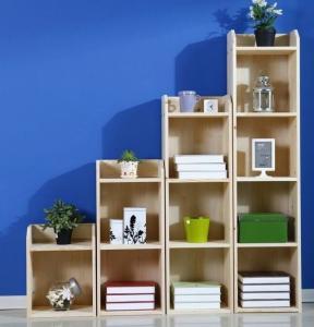 Pine Childrens Book Shelves / Kids Room Bookshelf Display Three Layer Manufactures