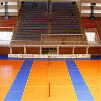 2015 Hot sale pvc/vinyl volleyball sports flooring with 8mm cheapest price Manufactures